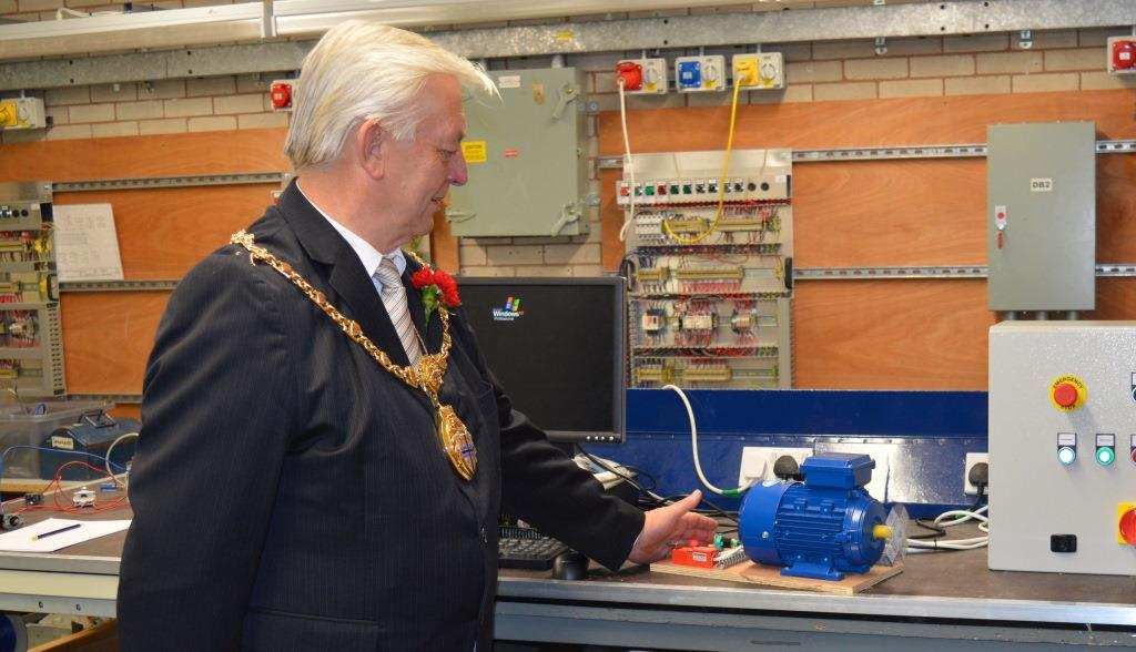 mayor testing apprentice electrical rig